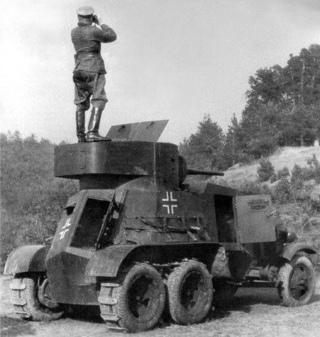Средний бронеавтомобиль ББА-10 на службе у Вермахта