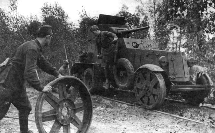 Средний бронеавтомобиль БА-6 жд