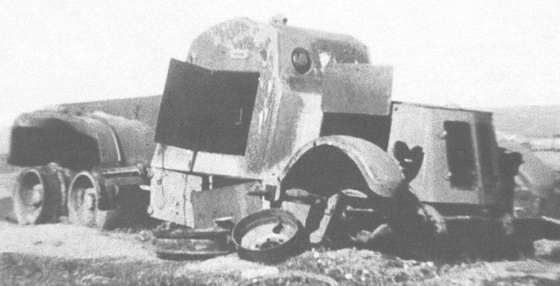 Средний химический бронеавтомобиль КС-18 уничтоженный в бою
