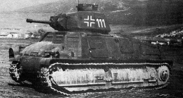 средний танк S-35 на службе Вермахта