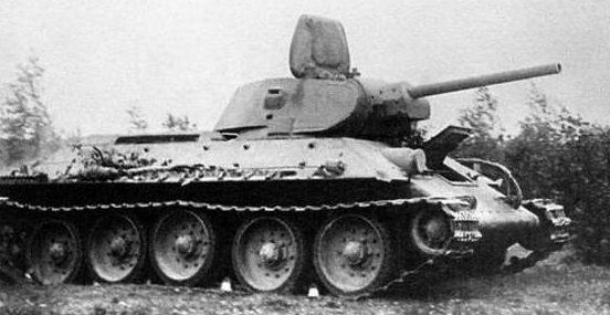 Средний танк Т-34 образца 1941 г. с пушкой Ф-34