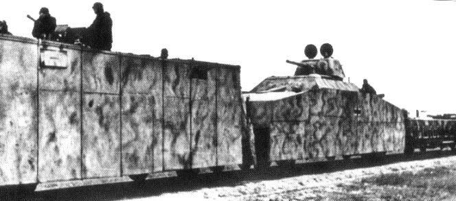 Артиллерийские площадки бронепоезда «Michael»