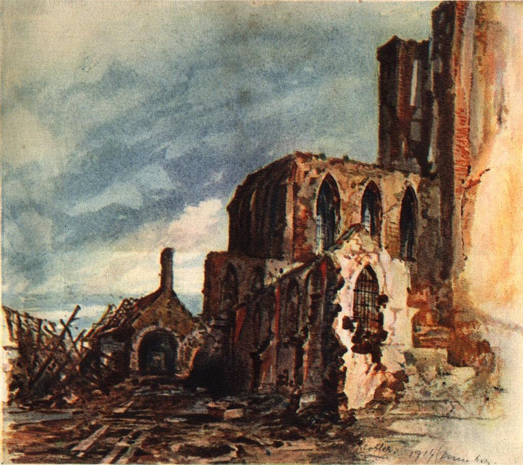 Руины монастыря в Мешен. 1914 г.