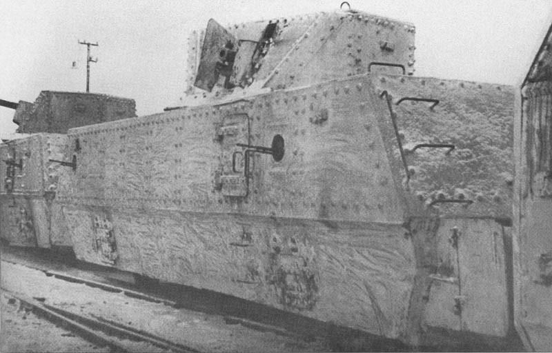 Артиллерийские бронеплощадки ОБ-3 с различным вооружением