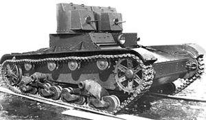 Легкий двухбашенный танк Т-26 образца 1931 г. с пулеметным вооружением