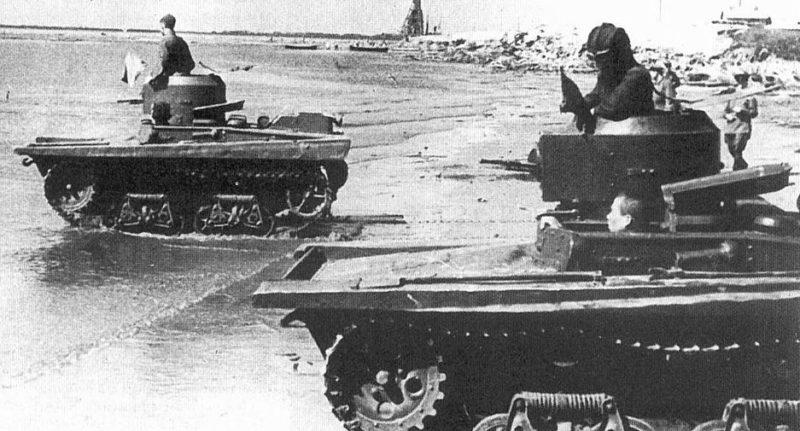 Плавающий танк Т-37А