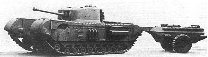 танк с прицепом