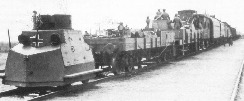 Легкая бронедрезина Tatra T-18 Zuk на службе Вермахта