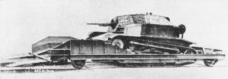 Танкетка TKS в качестве бронедрезины