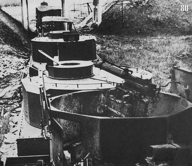 Легкий бронепоезд №50 типа БП-35 6-го дивизиона бронепоездов с бронеплощадкой ПЛ-35 и паровозом ПР-35