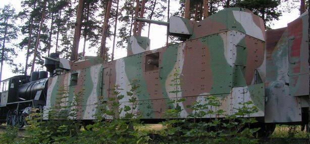 Артиллерийский броневагон бронепоезда из состава захваченного советского бронепоезда