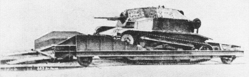 Легкая железнодорожно-наземная бронедрезина ТК