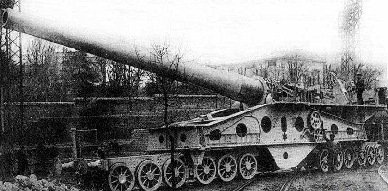 Железнодорожное орудие 340-mm M-1912 (St. Chamond).