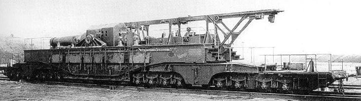 Железнодорожная гаубица Obusier de 520 modèle 1916
