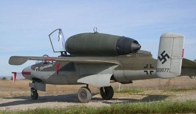 Реактивный истребитель Heinkel He. 162