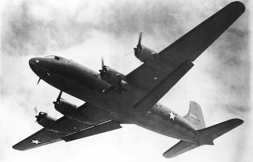 Транспортный самолет Douglas C-54 Skymaster (R-5D)