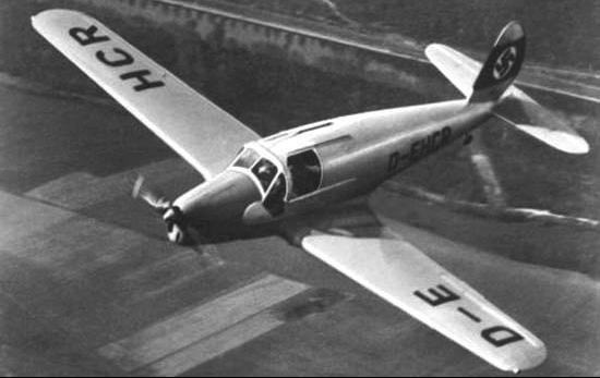 Учебно-тренировочный самолет Arado Ar-79.