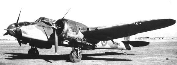 Бомбардировщик Bristol Blenheim Mk-V