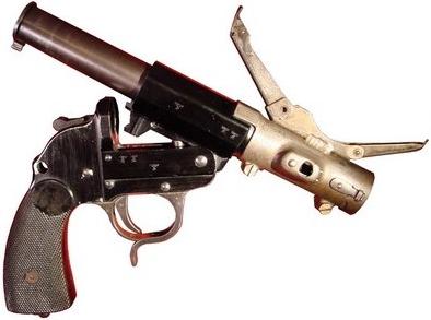 Гранатомет Sturmpistole со вставным стволом и прицельми приспособлениями