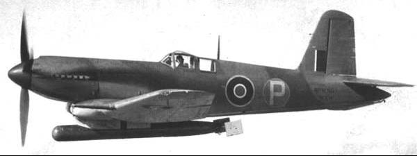 Палубный истребитель Blackburn Firebran TF-II