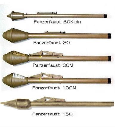 Основные модификации гранатомета Panzerfaust