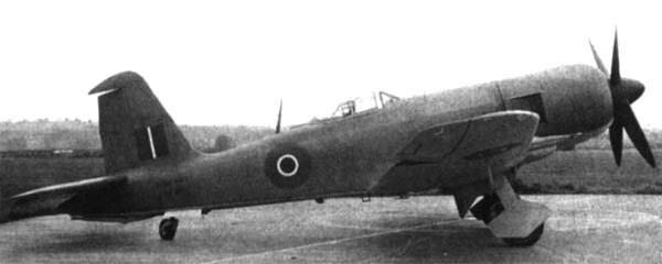 Палубный истребитель Blackburn Firebrand TF-IV