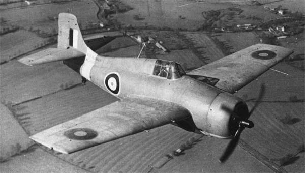 Палубный истребитель Martlet Mk-I ВМС Великобритании