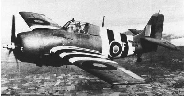 Палубный истребитель Grumman Martlet Mk-V. ВМС Великобритании