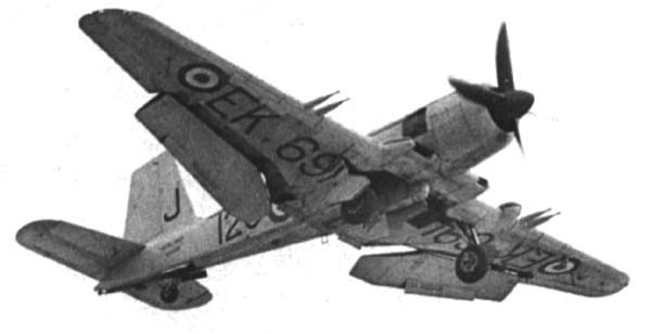 Палубный истребитель Blackburn Firebrand TF.Mk-V