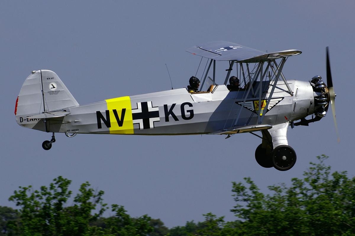 Учебно-тренировочный самолет Focke-Wulf FW-44 Steiglitz