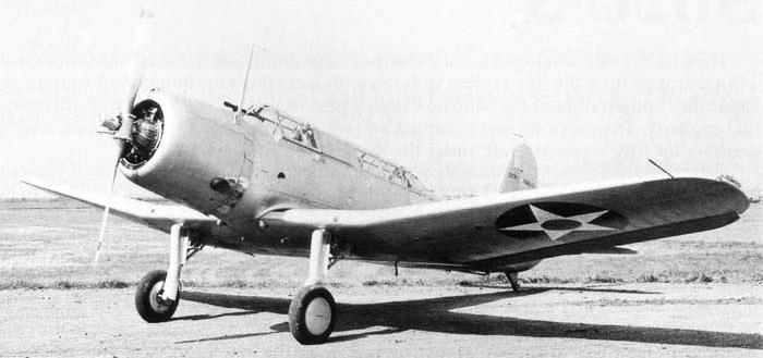 Палубный бомбардировщик Vought Vindicator SB2U-3