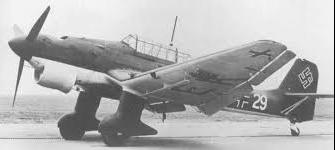 Учебно-тренировочный самолет  Junkers Ju-87H Stuka