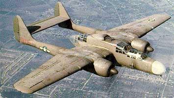 Истребитель Northrop P-61-А Black Widow