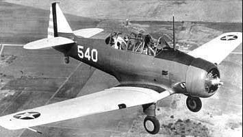 Учебно-тренировочный самолет North American BT-9