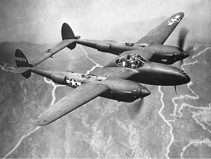Истребитель Lockheed Р-38Е
