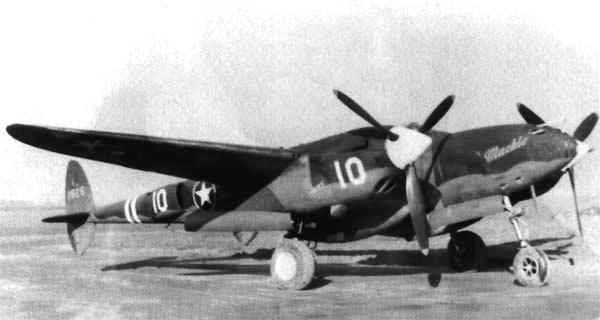 Истребитель Lockheed P-38G