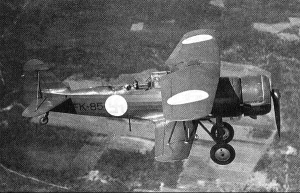 Ближний разведчик Fokker CХ с двигателем Pegasus