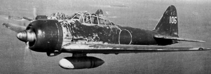 Палубный истребитель Mitsubishi Zero – A-6M7