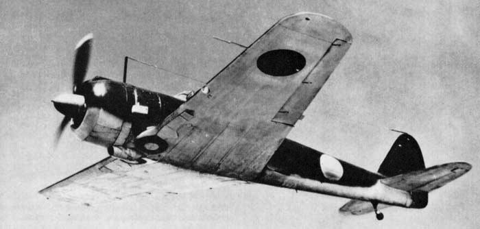 Истребитель Nakajima Ki-43 Hayabusa.