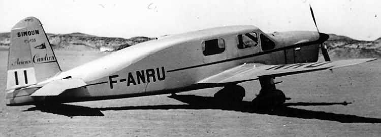 Вспомогательный самолет Caudron C-635 Simoun