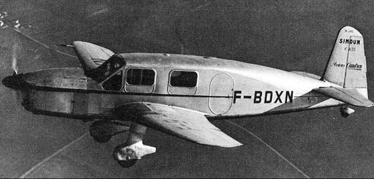Вспомогательный самолет Caudron C.635 Simoun