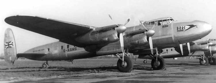 Транспортный самолет Avro-691 Lancastrian