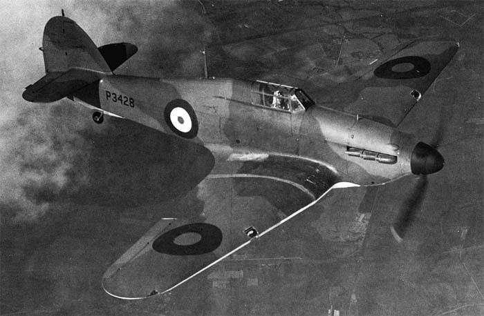 Истребитель Hurricane Mk-I.
