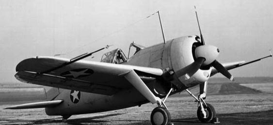 Палубный истребитель Brewster F-2A Buffalo