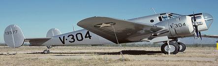 Учебно-тренировочный самолет Beech AT-11 Kansan