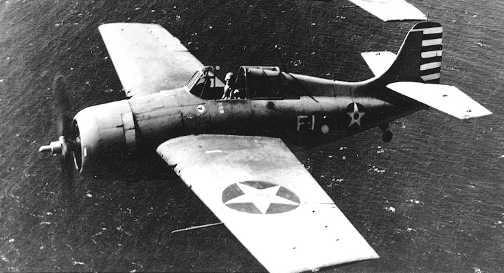 Палубный истребитель Grumman Wildcat F-4F-3