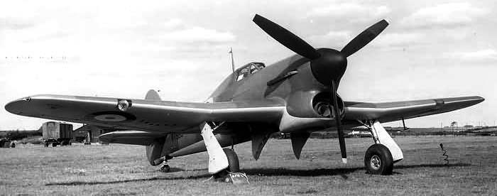 Истребитель Hawker Typhoon Mk-IA