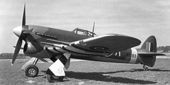 Истребитель Hawker Typhoon Mk.IB
