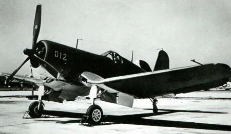 Палубный истребитель Chance Vought Corsair - F4U-1
