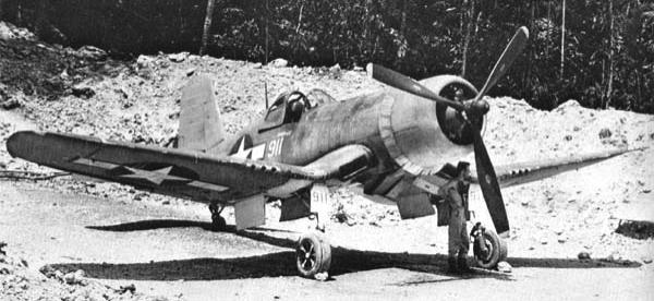 Палубный истребитель Chance Vought Corsair - F4U-1A